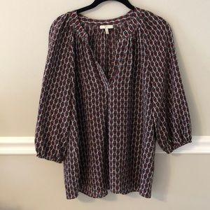 Joie silk owl print blouse